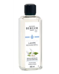 Delikater Weißer Moschus / Delicat Musc Blanc 0,5l - Lampe Berger